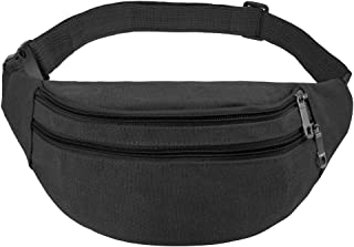 Fanny Pack, Ace Teah Adjustable Strap Travel Sport Waist Fanny Pack Bag(Black)
