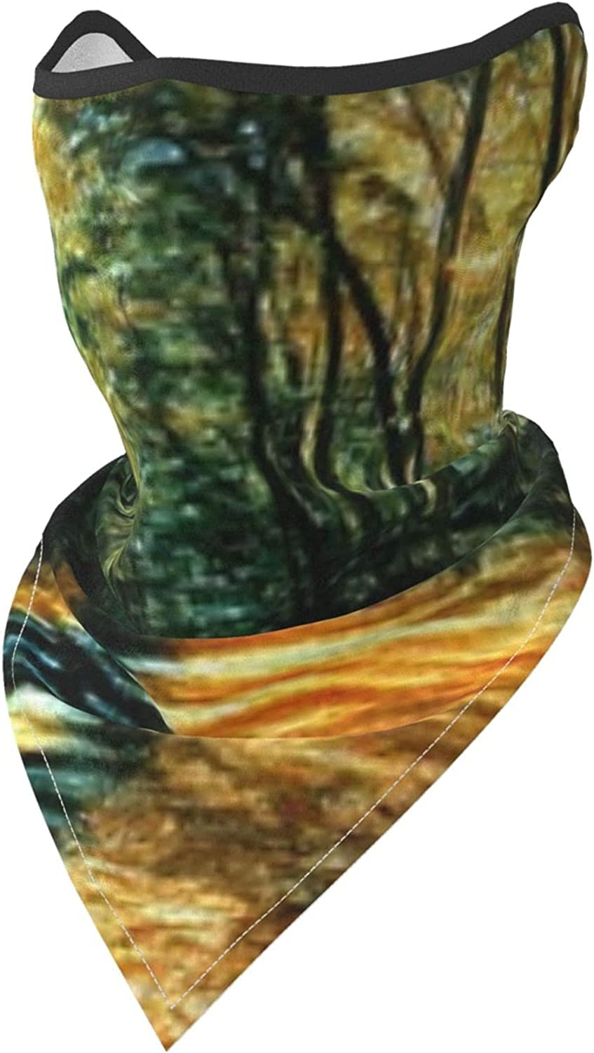 Oil Painting Autumn Forest Tree Breathable Bandana Face Mask Neck Gaiter Windproof Sports Mask Scarf Headwear for Men Women Outdoor Hiking Cycling Running Motorcycling