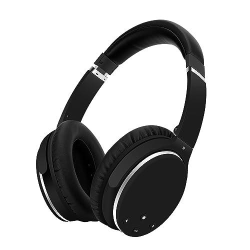 Casque Bluetooth Sans Fil Réduction de Bruit Active -Srhythm NC25- Noise Canceling Casque Pliable Over-ears Hifi Stéréo 180g Super Léger avec Adaptateur pour Avion