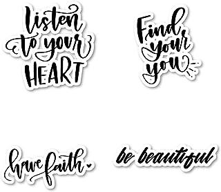 Have Faith and Be Beautiful ملصقات حزمة ملهمة - 4 حزم - ملصقات الكمبيوتر المحمول - لأجهزة الكمبيوتر المحمولة - لأجهزة الكم...