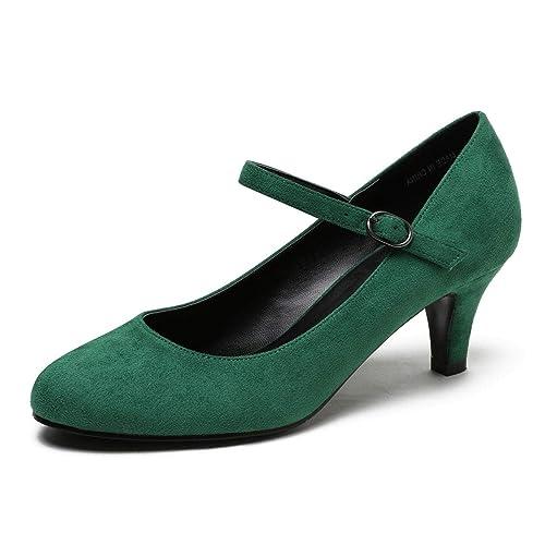 new cheap good service exclusive range Dress Green Heels: Amazon.com