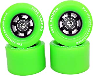 vanpro DIY Electric Skateboard 83MM pu wheelLongboards Cruising, Carving, Free-Style, Downhill Longboard Flywheels 608rs Precision Bearings 8352 Wheel (Snow Green, Pack of 4)