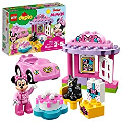 Build an amazingMinnie Mouse birthday celebration housewith a buildablebirthday cake! Thiseasy-to-build preschoolbuildingtoyfortoddlersincludes aMinnie Mouse LEGO DUPLO figure, a buildable toy car and a Figaro thecatDUPLOfigureto inspir...
