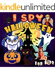 I Spy Halloween Book For Kids : Let's Play I Spy A to Z for Kids Ages 2-5 (English Edition)