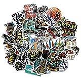 ZJJHX Nuevas Etiquetas engomadas del Coche de Pesca Pegatinas de Graffiti al Aire Libre Pesca Pesca Caja de Pesca Decoración Pegatinas Personalizadas Equipaje Cuaderno 65 Hojas