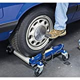 Eastwood Auto Moving Portable Wheel Dolly Hydraulic Foot Pump Hand Truck Heavy Duty Positioning Tire Lift 2 Piece Set