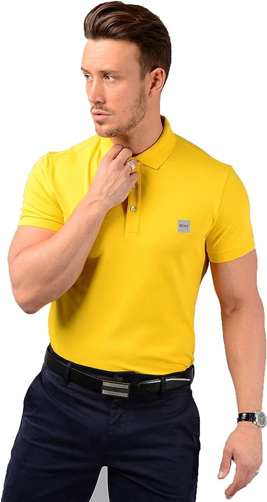 Boss passenger polo maglietta da uomo a maniche corte 97% cotone 3% elastan 50378334A