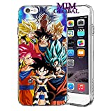 MIM Global Dragon Ball Z Super GT Protectores Case Cover Compatible para Todos iPhone (iPhone 7 Plus/8 Plus, Kakarot)