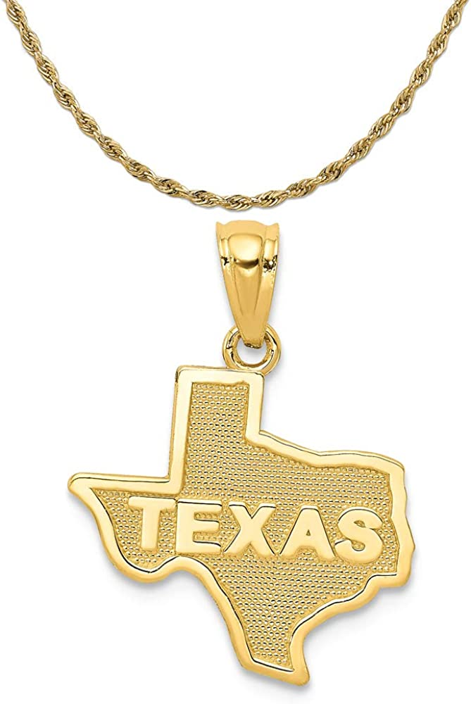 Mireval 14k Yellow Gold State of on Spring Arlington Mall new work one after another G 14K Pendant Texas a