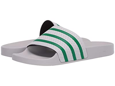 adidas Originals Adilette (Dash Grey/Green/Dash Grey) Men