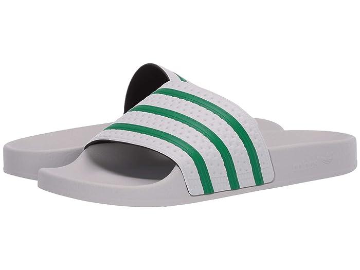 adidas  Adilette (Dash Grey/Green/Dash Grey) Mens Slide Shoes
