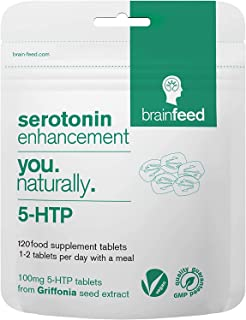 brain feed 5-htp Tablets 100mg | Serotonin Enhancement | 5-htp high Strength | Natural 5-htp from Griffonia Seed Extract |...