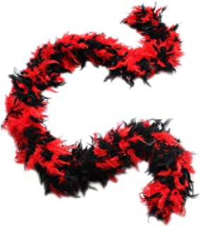 Best red and black feather boa Reviews