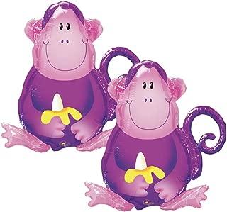 Set of 2 Purple Jungle Monkey 28