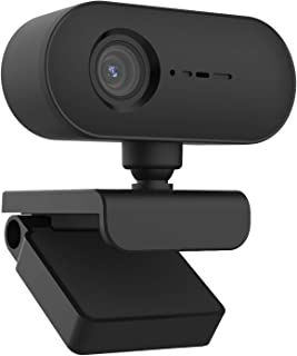 Webcam, HD 1080P AF autofocus webcam computer webcam no driver USB 2.0 interface plug and play built-in microphone for con...