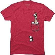Design By Humans Pocket Pandas Men's Graphic T Shirt