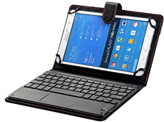 Samsung Galaxy Tab Active 2 Keyboard Case, Universal 8.0'' to 8.9'' Tablet Keyboard Folio Case, Synthetic Leather Cover wi...