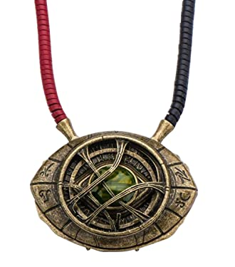 Marvel's Doctor Strange Eye of Agamotto Replica Necklace   Officially Licensed Marvel Collectible Prop   Premium Quality Movie Replicas   Superhero Accessory Perfect For Cosplay, Costumes, Halloween
