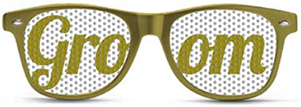 1824e5e748 Best Selling Groomsman Party Glasses on Amazon! Groom Gold Sunglasses. Great  item to give