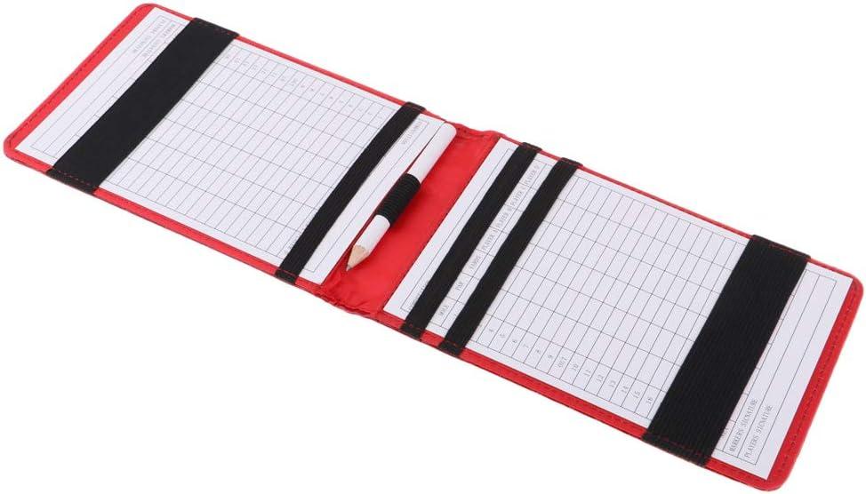 simhoa 25% OFF Multi-Function Golf Scorecard Book Over item handling Cover Holder
