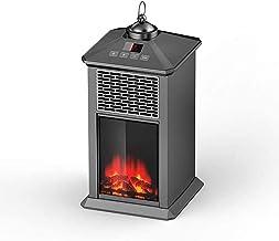 KAUTO Calefacción Chimenea eléctrica Estufa Habitación Habitación Habitación Chimenea eléctrica para Uso Interior Bajo Nivel de Ruido Efecto de Llama