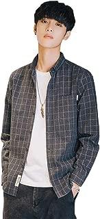Fout シャツ メンズ 長袖 メンズ服 ストライプシャツ チェックシャツ カジュアル シャツジャケット コットン グレー