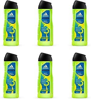 Adidas Get Ready 3In1 Gel De Ducha Apto Para Cara Cuerpo Y Pelo Para Hombre 400 ml - Pack de 6