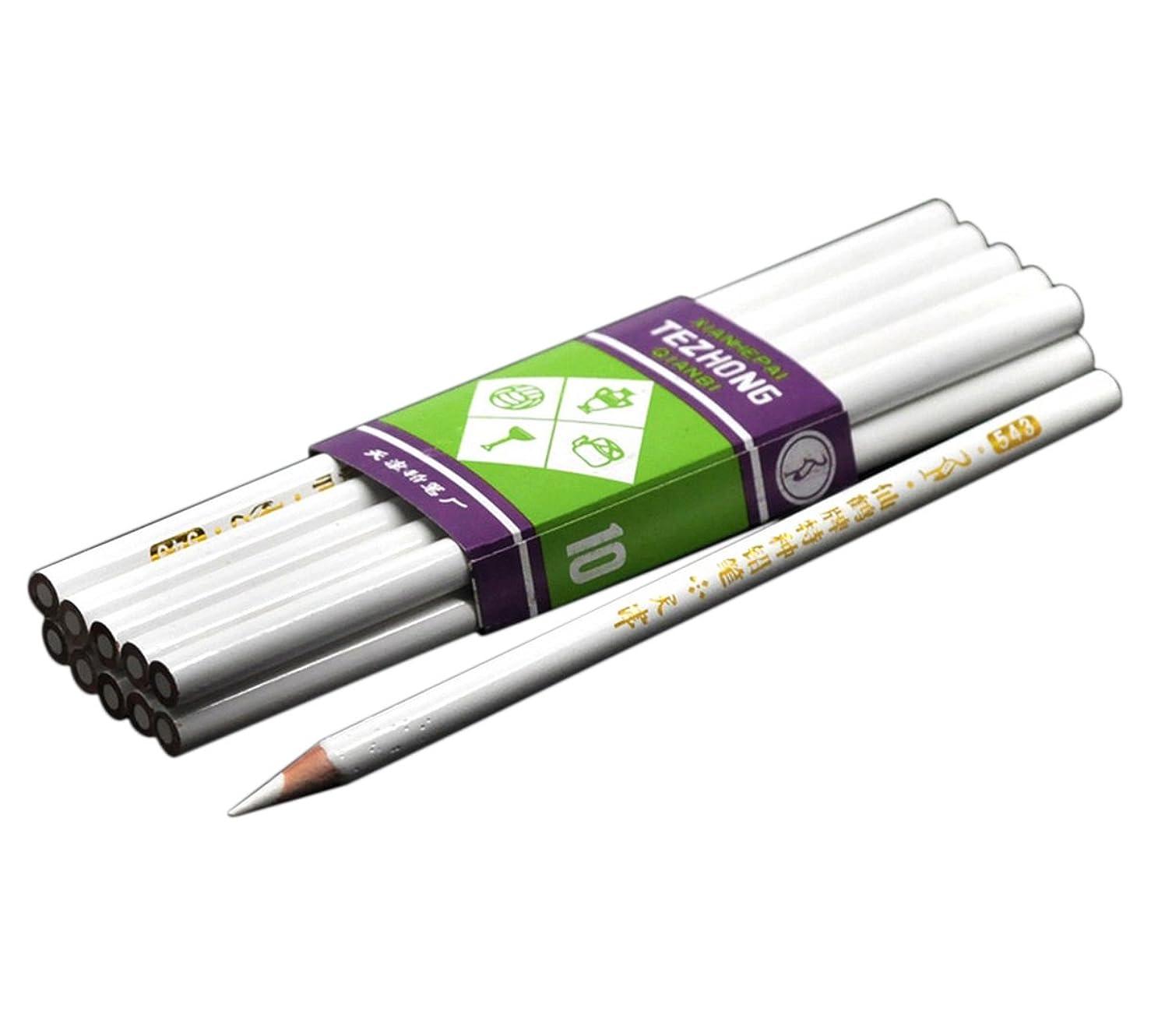 症候群スタックプレミアHousweetyネイルアート用ペン 10本セット ネイルデザイン ジェルネイル 鉛筆 筆 ネイル用品 白い