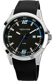 Relógio Technos, Pulseira de Silicone, Masculino Preto 2115KPT/8A