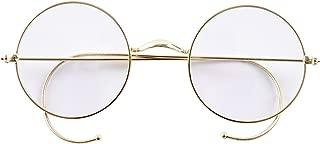 Retro Round Optical Rare Wire Rim Eyeglass Frame (Without Nose Pads)