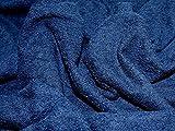 Loop Baumwolle doppelseitig Frotteestoff, Marineblau,