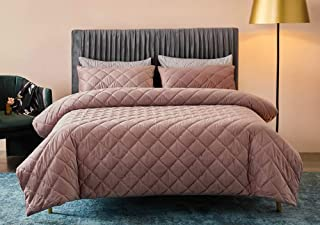 Deep Sleep Home 100% Velvet Soft Hand Feeling Solid Color Zipper Close No Inside 1pc Duvet Cover Set Twin/Full/Queen Size (RosyBrown, Twin Size)