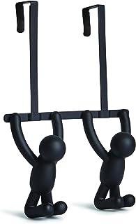 UMBRA Buddy Hook OTD. Patère de dessus de porte Buddy, en plastique et métal - Noir - 21,6x10,6x31,8cm