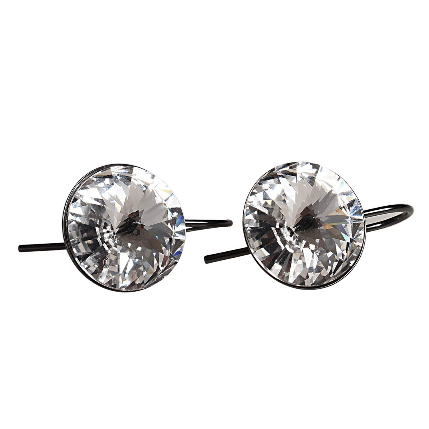 Award-winning store Sparkly Max 53% OFF Crystal Gunmetal Earrings - Moth Statement Dangly Drop