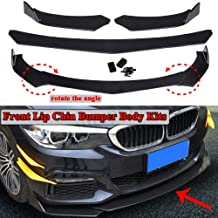 Ruien Universal Front Bumper Lip Body Kit Spoiler GT Style Black ABS Front Bumper Lip Spoiler Wing Body Fits for Almost Cars Honda Civic,Nissan,BMW,Mercedes,Audi,Infiniti,Toyota