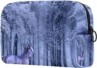 Unicorn Forest Makeup Bag Toiletry Bag for Women Skincare Cosmetic Handy Pouch Zipper Handbag