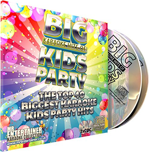 Mr Entertainer Big Karaoke Hits of Kids Party - Double CD+G (CDG) Pack. Top 40 Greatest Childrens Party Songs. fiesta de niños