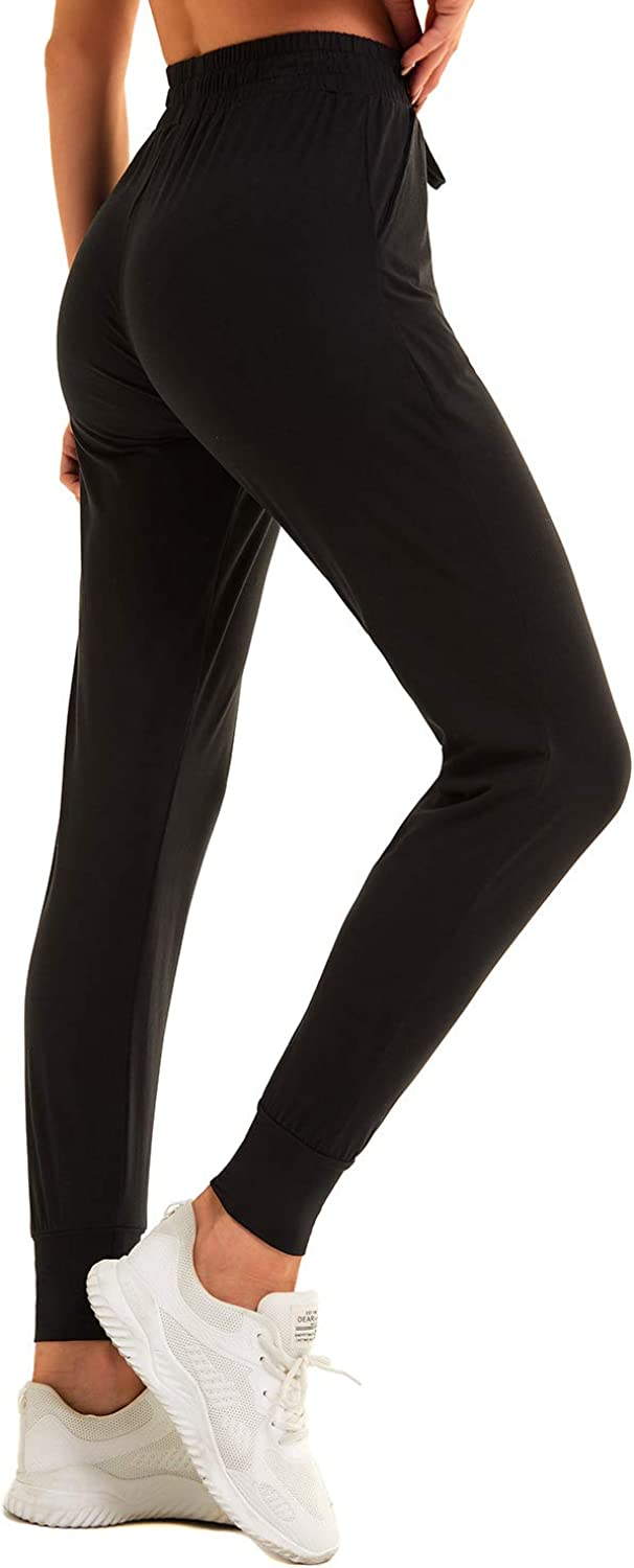TNNZEET Sweatpants for Women with Pockets Womens High Waisted Black Yoga Lounge Joggers Workout Pants