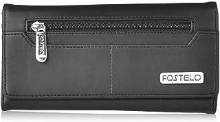 Fostelo Women's Versatile Two Fold Wallet (Black)