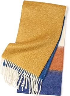 WZHZJ Autumn and Winter New Men's and Women's Warm Scarf Mohair Knitted Long Scarf Color Matching Women's Scarf