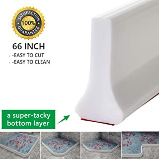 Collapsible Shower Threshold Water Dam Shower Barrier and Retention System and Keeps Water Inside Threshold (66 INCH)