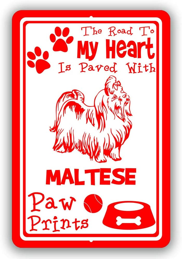 The Road to My Heart is Paved Prints with List price Elegant Man cave Paw H Maltese