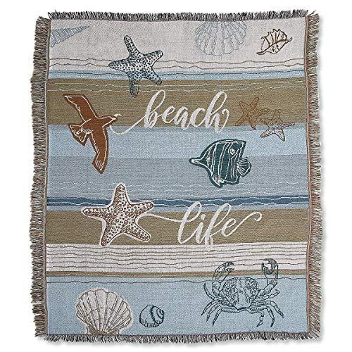 Lillian Vernon Coastal Woven Throw Blanket- 50 inch