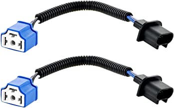 AMONLY H13 to H4 Connector, Wiring Harness Adapter for 7 inch Led Headlights, 2 PCS