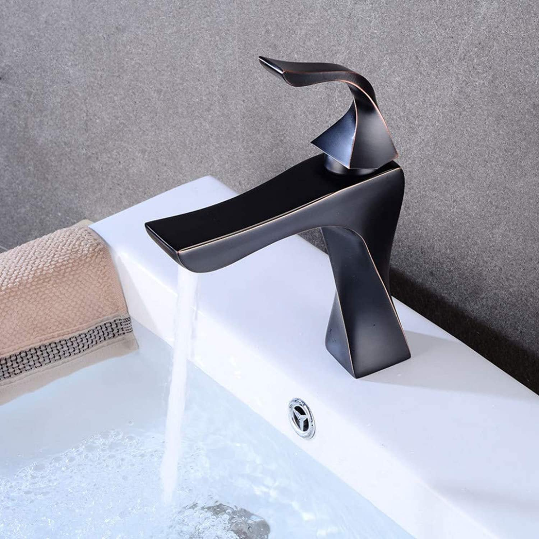 Faucet European Black Basin Faucet Retro hot and Cold Faucet Bathroom wash Basin Creative Faucet Single Hole Faucet