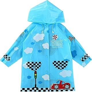 LHY- Raincoat S/M/L Children's raincoat Cartoon raincoat Poncho Waterproof eva Environmental Protection rain Gear Convenient (Color : Blue, Size : M)
