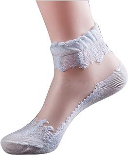レディース ソックス 花柄 ソックス 透明なレースソックス 爽やかな靴下 アンクルバンド ソックス 夏用 通気性 伸縮性 快適