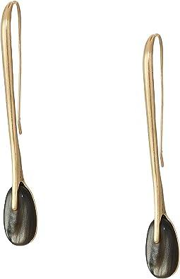Stone Sculptural Stick Linear Earrings