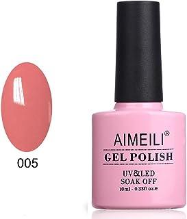 AIMEILI Soak Off UV LED Gel Nail Polish - Rose Bud (005) 10ml