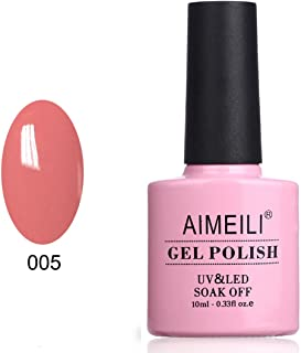 AIMEILI Soak Off UV LED Gel Nail Polish - Rose Bud (005) 10ml